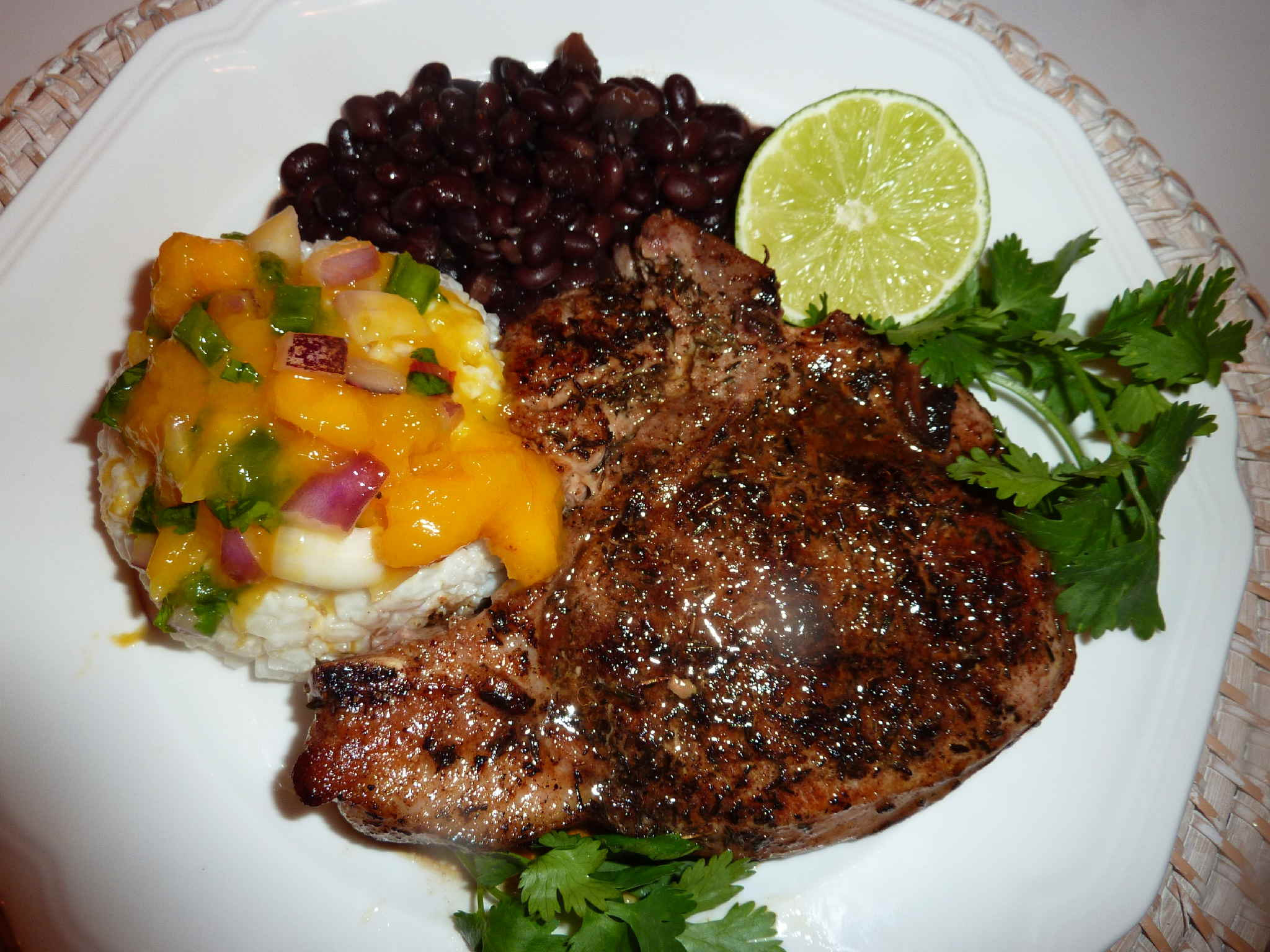 "Jamaican Jerk Pork Chops and Mango Salsa | ""Deja Vu"" Cook"