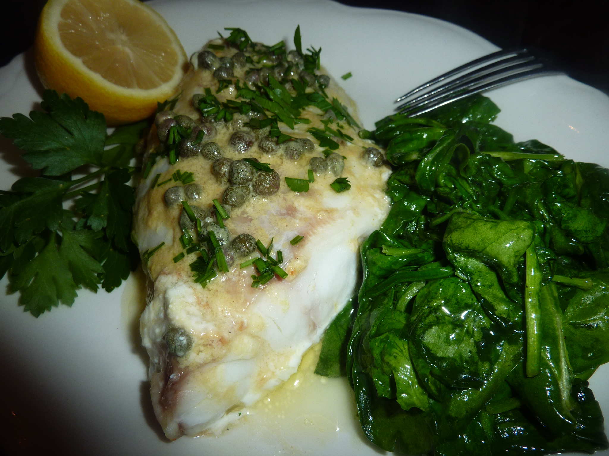 Baked grouper in lemon caper sauce deja vu cook for Cooking with fish sauce