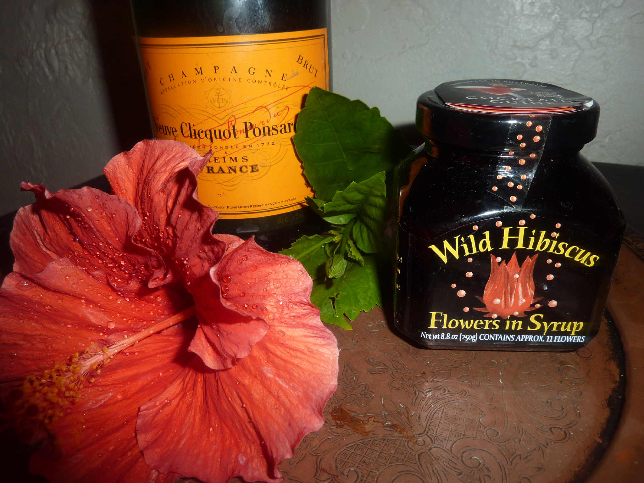 Champagne Hibiscus Cocktail Deja Vu Cook