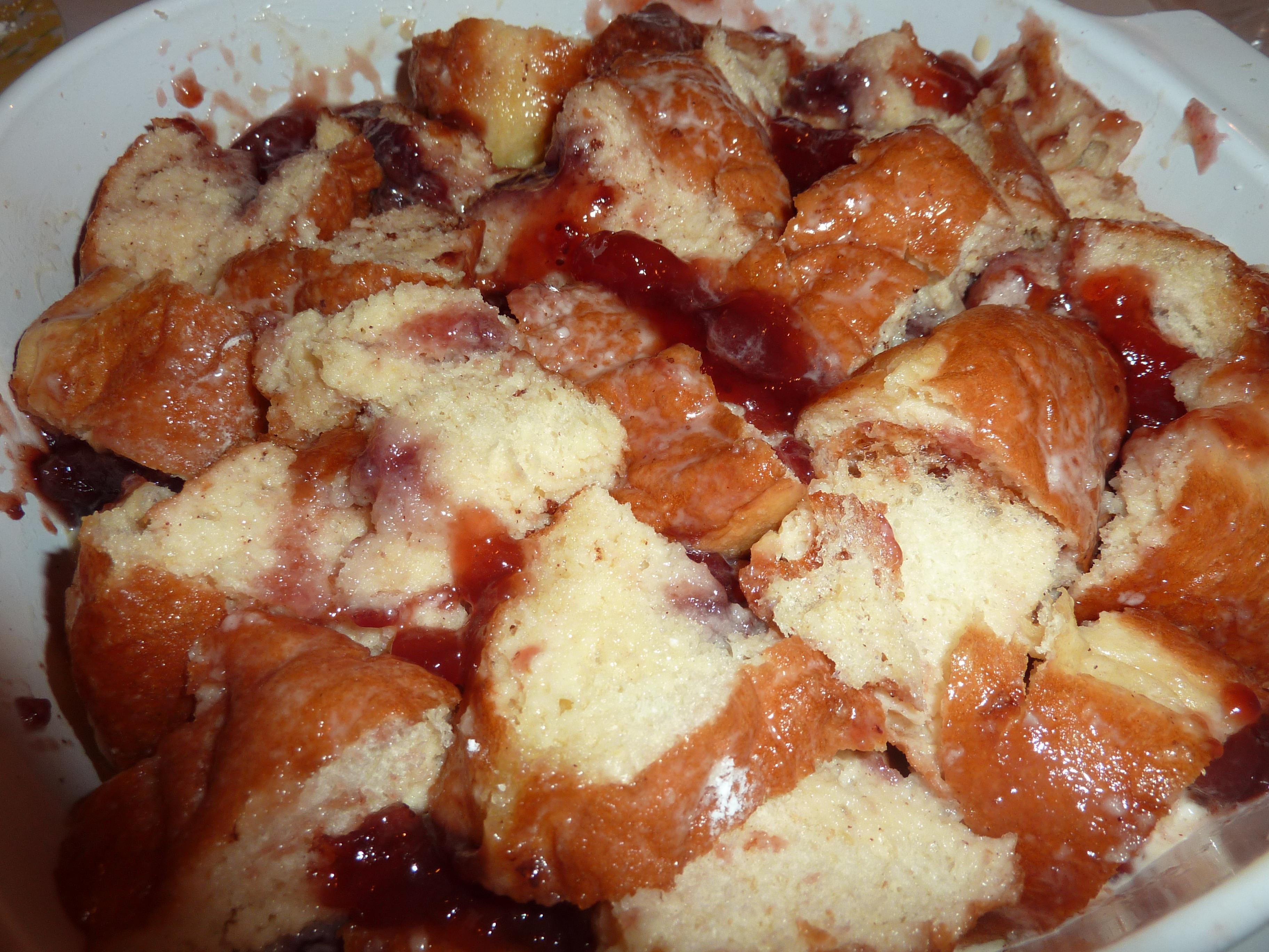 jelly doughnut bread pudding doughnut pudding recipe jelly donut bread ...